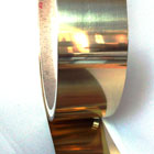 Brass coated and cold rolled steel strips